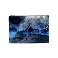 Mountains Moon Earth Space Cosmetic Bag (medium)