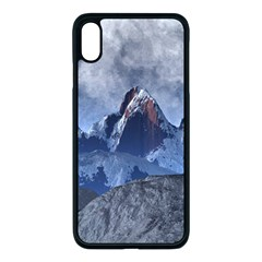 Mountains Moon Earth Space Apple Iphone Xs Max Seamless Case (black)