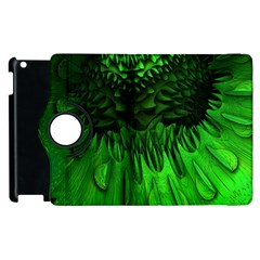 Fractal Rendering Background Green Apple Ipad 3/4 Flip 360 Case