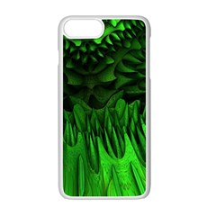 Fractal Rendering Background Green Apple Iphone 7 Plus Seamless Case (white)