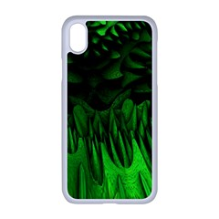 Fractal Rendering Background Green Apple Iphone Xr Seamless Case (white)