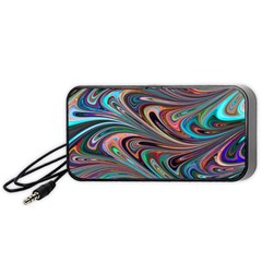 Seamless Abstract Marble Colorful Portable Speaker