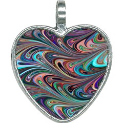 Seamless Abstract Marble Colorful Heart Necklace by Pakrebo
