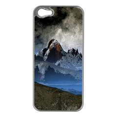 Mountains Moon Earth Space Apple Iphone 5 Case (silver)