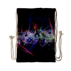 Brush Particles Music Clef Wave Drawstring Bag (small)