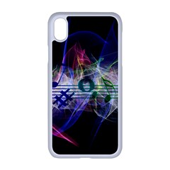 Brush Particles Music Clef Wave Apple Iphone Xr Seamless Case (white)