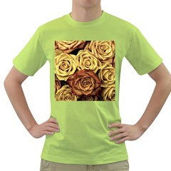 Roses Flowers Love Red Plant Green T Shirt