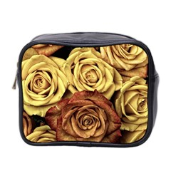 Roses Flowers Love Red Plant Mini Toiletries Bag (two Sides)