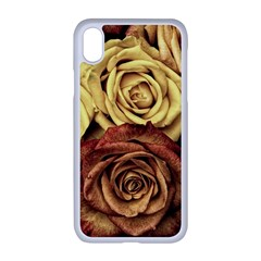 Roses Flowers Love Red Plant Apple Iphone Xr Seamless Case (white)