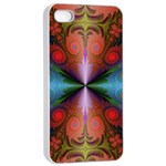 Fractal Fractal Background Design Apple iPhone 4/4s Seamless Case (White) Front