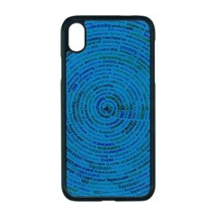 Big Data Information Data Apple Iphone Xr Seamless Case (black)