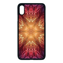 Fractal Abstract Artistic Apple Iphone Xs Max Seamless Case (black)