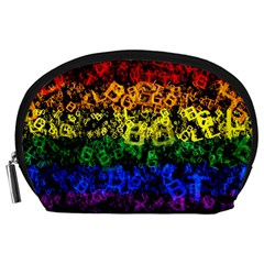 Lgbt Pride Rainbow Gay Lesbian Accessory Pouch (large) by Pakrebo