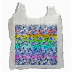 Colorful Iridescent Clouds Recycle Bag (one Side)