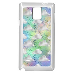 Colorful Iridescent Clouds Samsung Galaxy Note 4 Case (white)