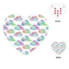 Colorful Iridescent Clouds Playing Cards (heart)