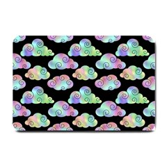 Colorful Iridescent Clouds Small Doormat