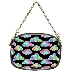 Colorful Iridescent Clouds Chain Purse (two Sides)