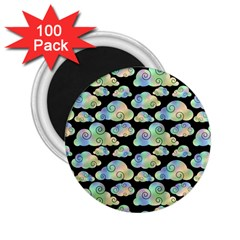 Colorful Iridescent Clouds 2 25  Magnets (100 Pack)  by tarastyle