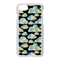 Colorful Iridescent Clouds Apple Iphone 7 Seamless Case (white)