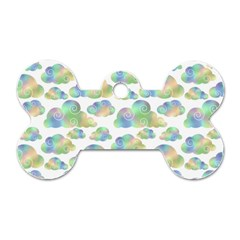 Colorful Iridescent Clouds Dog Tag Bone (one Side)