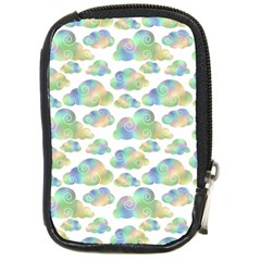 Colorful Iridescent Clouds Compact Camera Leather Case