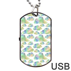 Colorful Iridescent Clouds Dog Tag Usb Flash (two Sides) by tarastyle