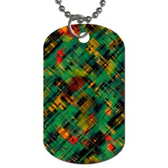 Abstract Glitch Pattern Dog Tag (one Side) by tarastyle