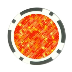 Abstract Glitch Pattern Poker Chip Card Guard