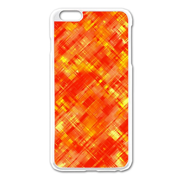Abstract Glitch Pattern Apple iPhone 6 Plus/6S Plus Enamel White Case