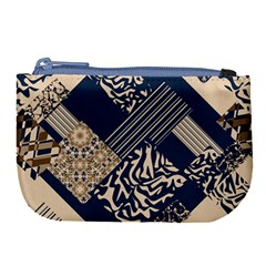 Abstract Glitch Pattern Large Coin Purse