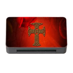 Wonderful Celtic Cross On Vintage Background Memory Card Reader With Cf