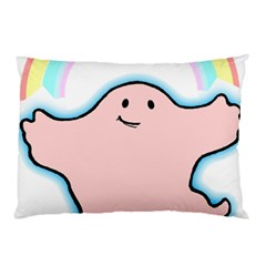 Huggiepops Rainbow By Larenard Studios Pillow Case (two Sides) by LaRenard