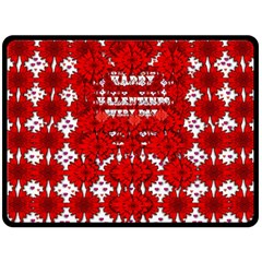 Happy Valentines Every Day Double Sided Fleece Blanket (large)  by pepitasart
