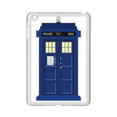 Tardis Doctor Who Time Travel Ipad Mini 2 Enamel Coated Cases by Bejoart