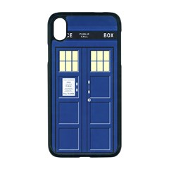 Tardis Doctor Who Time Travel Apple Iphone Xr Seamless Case (black)