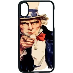 America Uncle Sam Impersonation Apple Iphone X Seamless Case (black)