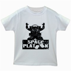 Platoon Space War Soldier Usa Kids White T Shirts