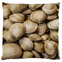 Shellfishs Photo Print Pattern Standard Flano Cushion Case (one Side)