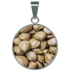 Shellfishs Photo Print Pattern 25mm Round Necklace
