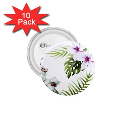 Tropical Flowers 1 75  Buttons (10 Pack) by goljakoff