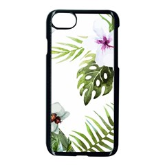Tropical Flowers Apple Iphone 8 Seamless Case (black)