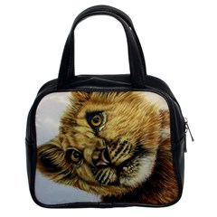 Lion Cub Classic Handbag (two Sides) by ArtByThree