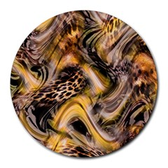 Luxury Animal Print Round Mousepads by tarastyle