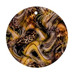 Luxury Animal Print Ornament (round) by tarastyle