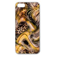 Luxury Animal Print Apple Seamless Iphone 5 Case (clear) by tarastyle