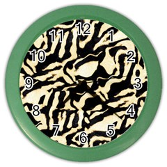 Luxury Animal Print Color Wall Clock by tarastyle
