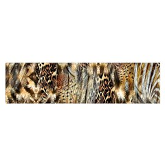 Luxury Animal Print Satin Scarf (oblong)