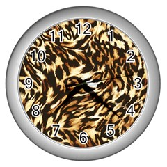 Luxury Animal Print Wall Clock (silver) by tarastyle