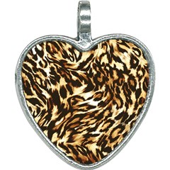 Luxury Animal Print Heart Necklace